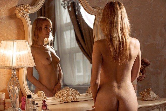 prohlížení v zrcadle