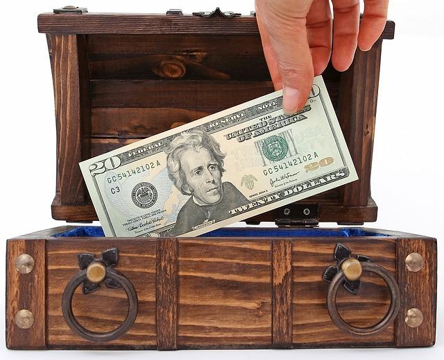 peníze jako poklad
